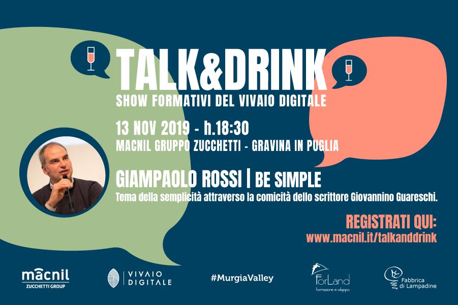 Talk&Drink | 13 novembre