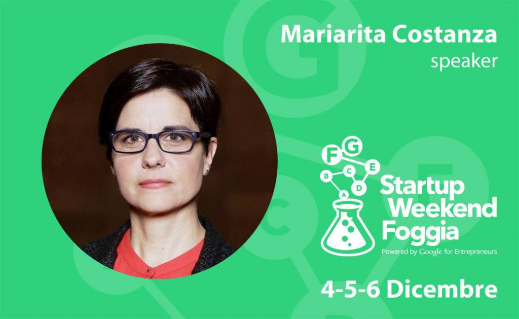 Mariarita Costanza Startup Weekend Foggia